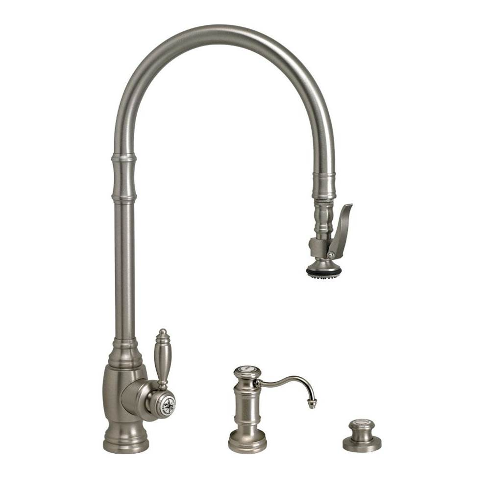 Waterstone Traditional Extended Reach Plp Pulldown Faucet - 3Pc. Suite