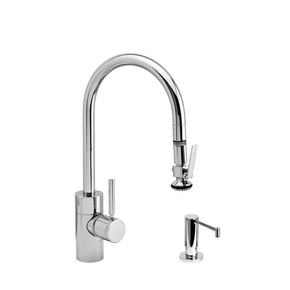 Waterstone Contemporary Plp Pulldown Faucet - Lever Sprayer - 2Pc. Suite