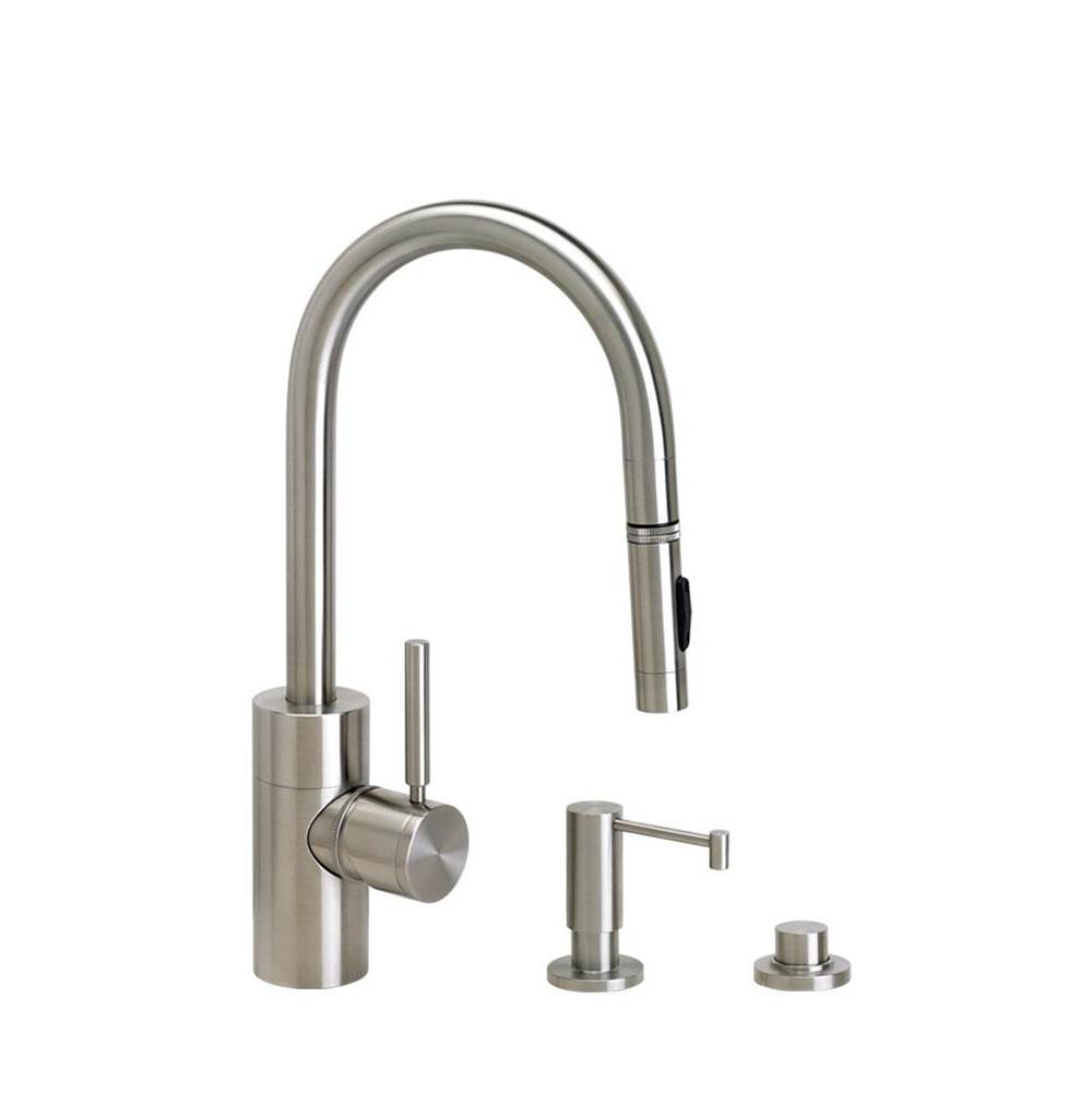 Waterstone Contemporary Prep Size Plp Pulldown Faucet - Toggle Sprayer - 3Pc. Suite
