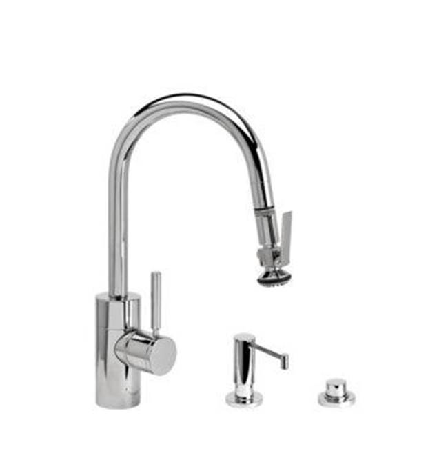 Waterstone Contemporary Prep Size Plp Pulldown Faucet - Angled Spout - Toggle Sprayer - 3Pc. Suite