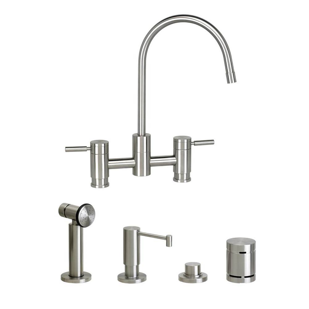 Waterstone Parche Bridge Faucet - 4Pc. Suite