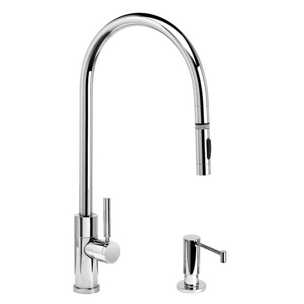 Waterstone Modern Extended Reach Plp Pulldown Faucet - Toggle Sprayer - 2Pc. Suite
