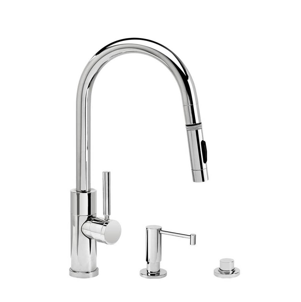 Waterstone Modern Prep Size Plp Pulldown Faucet - Angled Spout - Toggle Sprayer - 3Pc. Suite