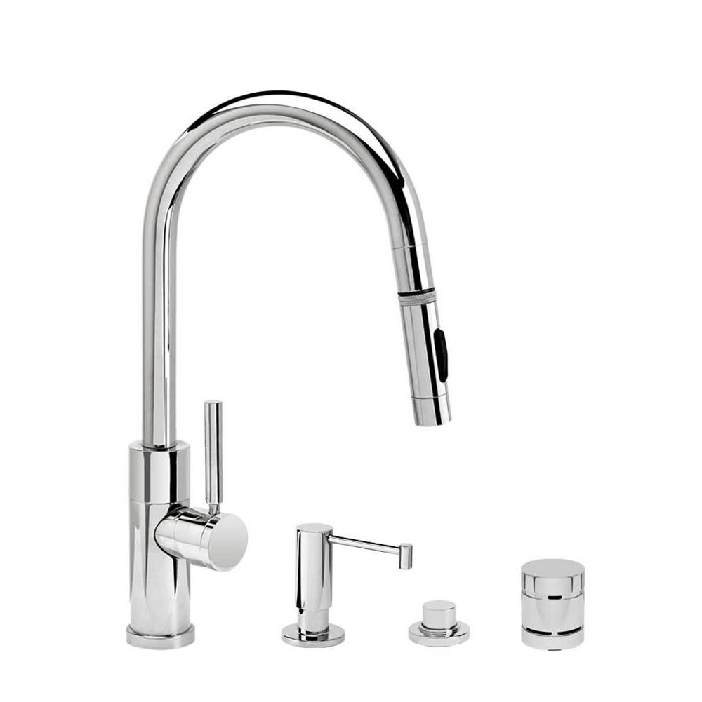 Waterstone Modern Prep Size Plp Pulldown Faucet - Angled Spout - Toggle Sprayer - 4Pc. Suite