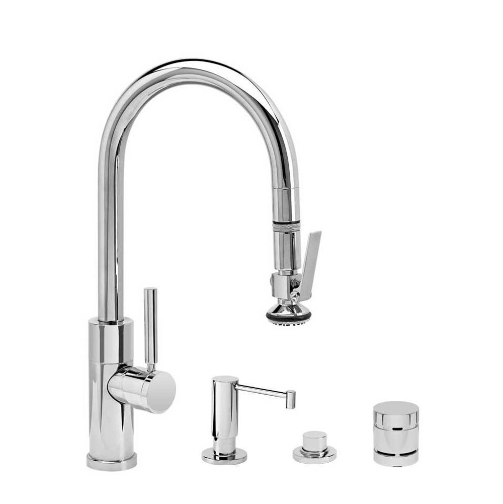 Waterstone Modern Prep Size Plp Pulldown Faucet - Lever Sprayer - 4Pc. Suite